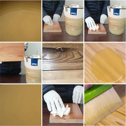 有色木蜡油· 擦色工