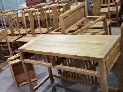 德国进口pnz木蜡油案例----老榆木家具涂装工艺简介