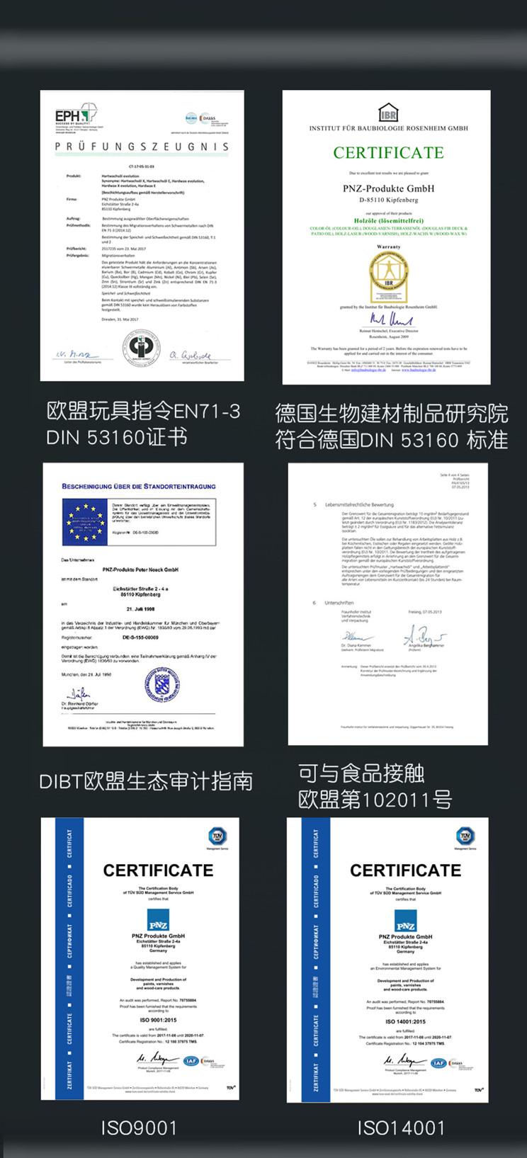 pnz木蜡油通过的欧盟认证